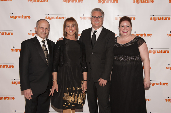 Kenneth Feld, Signature Theatre Board Chair Bonnie Feld, Artistic  Eric Schaeffer and Managing  Maggie Boland