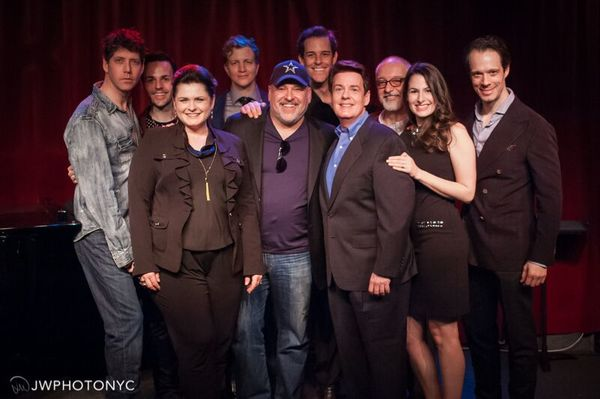 Frank Wildhorn and the cast