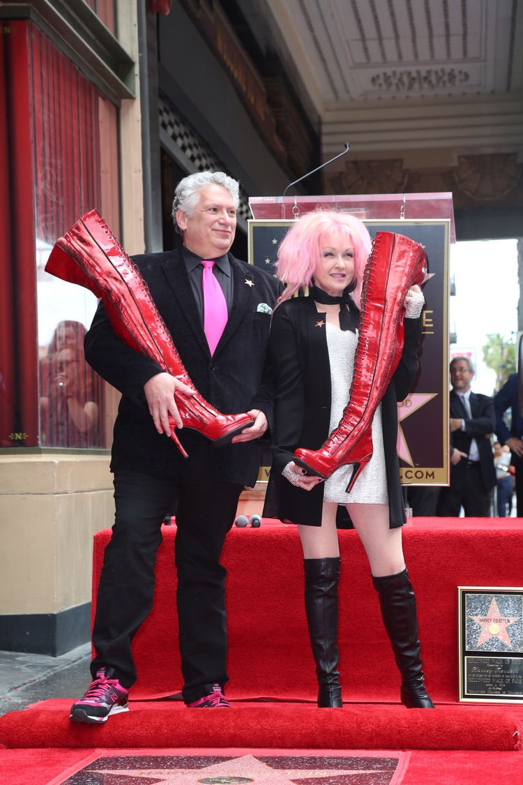 High Res Harvey Fierstein and Cyndi Lauper