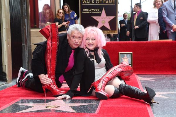 Harvey Fierstein and Cyndi Lauper