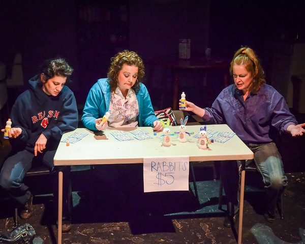Amanda Cucher (Margie), LeeAnna Lambert (Jean), and Liane LeMaster (Dottie) at the local church bingo hall
