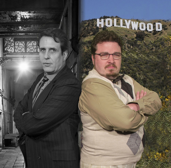 Sean St. Louis-Farrelly plays hard boiled Detective Stone and John Zimmerman plays writer Stine