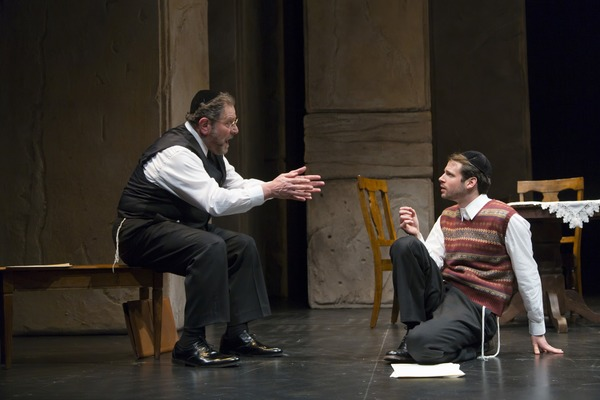 Bob Ari as Aryeh Lev and Miles G. Jackson as Asher Lev
