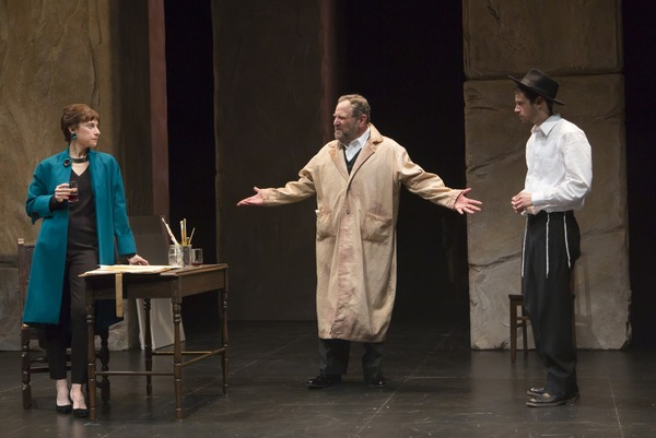 Lena Kaminsky as Anna Schaeffer, Bob Ari as Jacob Kahn, and Miles G. Jackson as Asher Lev