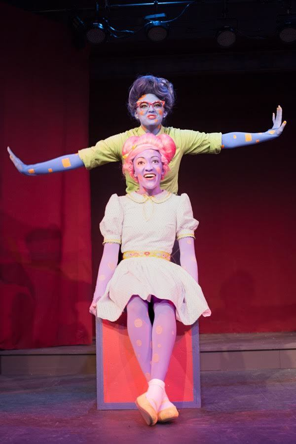 Shelby Ringdahl as Ms. Square and Tyla Collier as Lily Polkadot