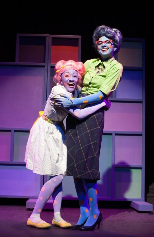 Tyla Collier as Lily Polkadot and Shelby Ringdahl as Ms. Square