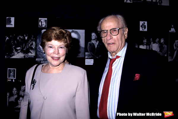 Eli Wallach and Anne Jackson photographed at the opening night of 'Rose Tatoo' party held at O'Neals Restaurant in NYC on April 30, 1995..