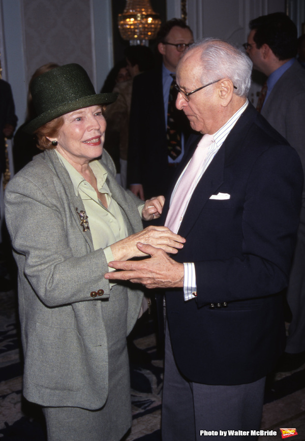 Anne Jackson and Eli Wallach attend the Drama League Awards at the Plaza Hotel on May 8, 1998 in New York City.