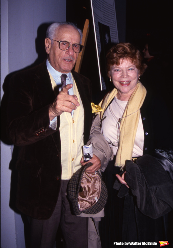 Anne Jackson and Eli Wallach attend a Broadway Show on November 8, 1992 in New York City.