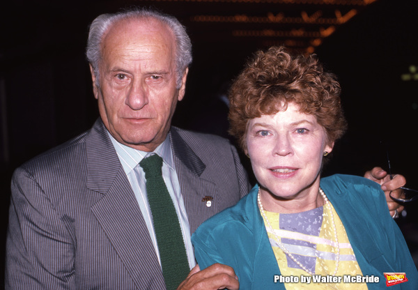 Anne Jackson and Eli Wallach attend a Broadway Show on September 1, 1982 in New York City.