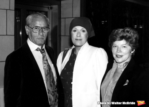 Eli Wallach with wife Anne Jackson and Tammy Grimes Attending a Broadway Show in New York City.September 1980