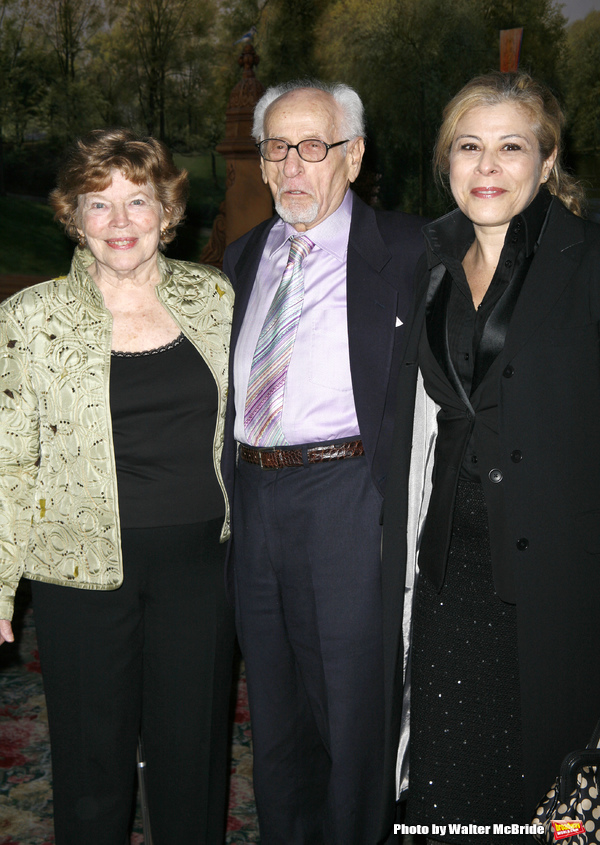 Anne Jackson, Eli Wallach & daughter Roberta Wallachattending the Neighborhood Playhouse School of the Theatre's 80th Anniversary Gala and Reunion at Tavern On The Green Restaurant in New York City.November 9, 2008