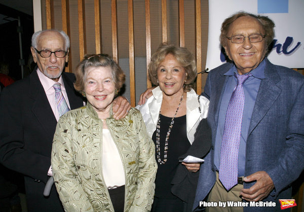 Eli Wallach, Anne Jackson & Joseph Stein with wifeattending  the York Theatre Company's 'enter laughing' The Musical Opening Night After Party at the  York Theatre  inNew York City.September 10, 2008