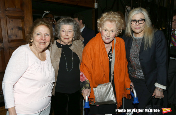 Crystal Fiels, Anne Jackson, Tammy Grimes and Roberta Wallach attends the '12th Annual Love N' Courage' celebrating David Amram and Tammy Grimes at The National Arts Club on March 2,, 2015 in New York City.