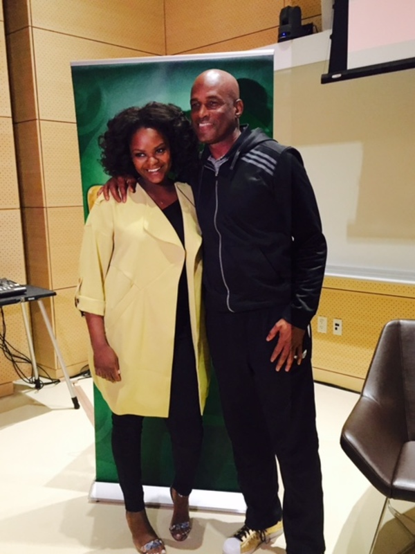 Shanice Williams and Kenny Leon