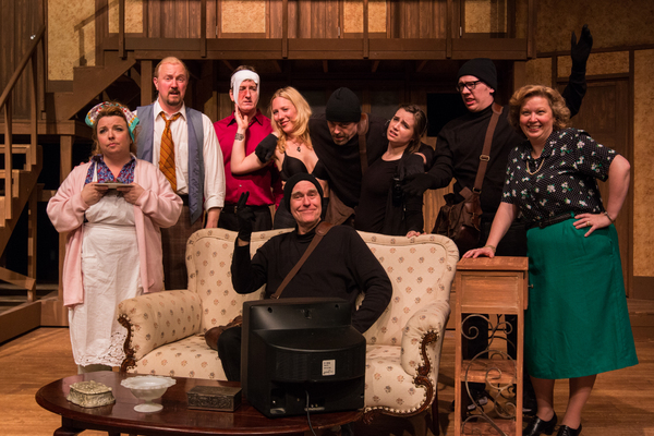 The cast of NOISES OFF