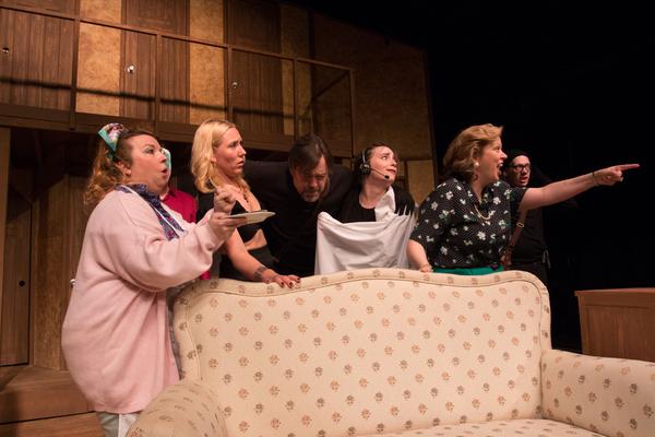 SHELLEIGH FERGUSON (Dotty), JENNIFER DAVY (Brooke), JONATHAN BILL (Lloyd), ANA BURY (Poppy), DIANA GEORGE (Belinda) and NICK FITZGERALD (Tim)