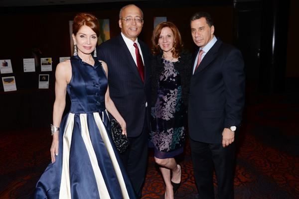 Jean Shafiroff, Bill Thompson, Mary Galda, and David Paterson Photo