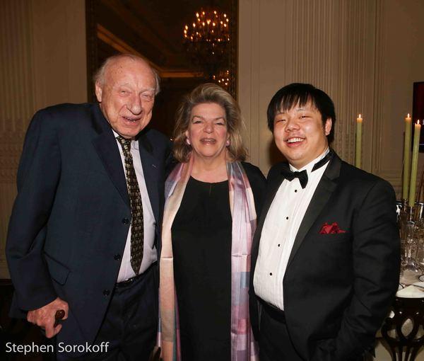 Dan Cameron, Josephine Hemsing, Larry Weng Photo