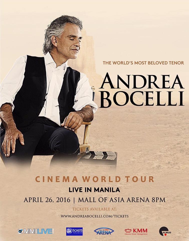 andrea bocelli to release special edition of cinema 4 22 see him live in concert 4 26. Black Bedroom Furniture Sets. Home Design Ideas