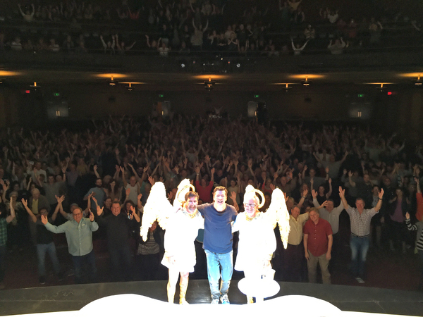Photo Flash: Sean Hayes Snaps Audience Selfie Following AN ACT OF GOD's Final Show in San Francisco
