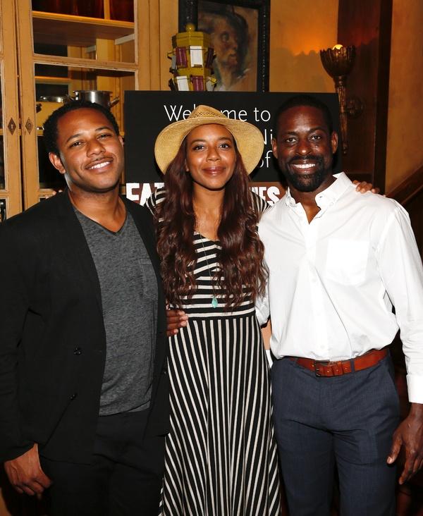 Larry Powell, Sameerah Luqmaan-Harris and Sterling K. Brown