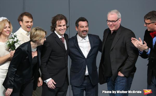 Lynne Page, Rupert Goold, Duncan Sheik, Bret Easton Ellis and cast