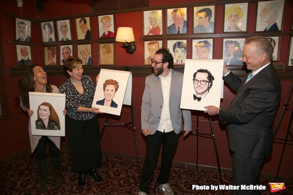 Max Klimavicius with Jeanine Tesori, Lisa Kron, and Sam Gold