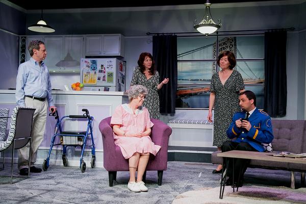 Mitch Prywes as Dr. Ira Taub, Jody Bayer (seated) as Freida, Rosemary Howard as Lee G Photo