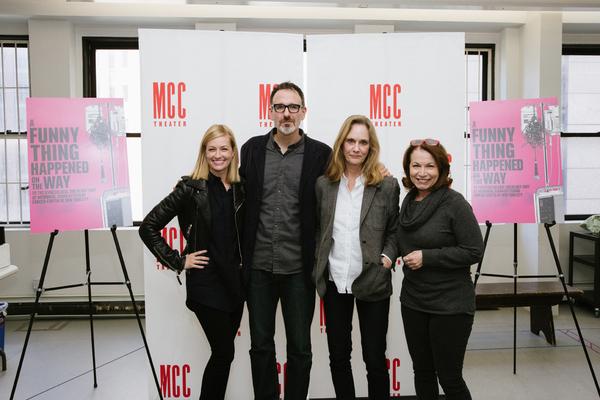 Beth Behrs, Lisa Emery, Erik Lochtefeld, and Jacqueline Sydney