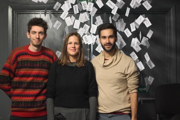 Michael Woodman, Katharina Reinthaller and Joe Sellman-Leava