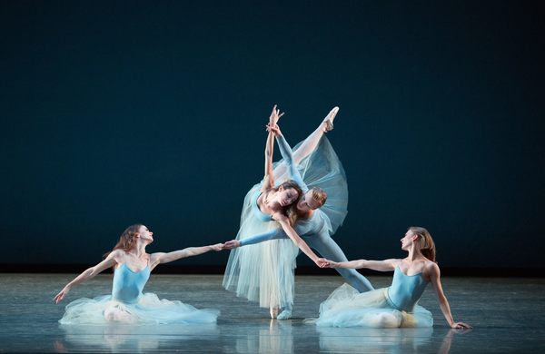 Miami City Ballet dancers in SERENADE. Choreography by George Balanchine, Copyright The George Balanchine Trust.