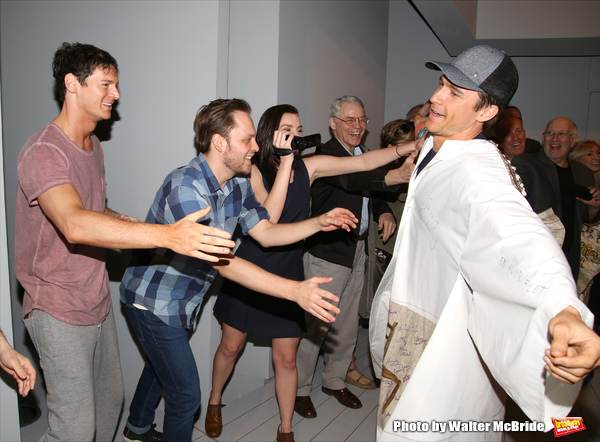 Alex Michael Stoll with Benjamin Walker, Theo Stockman and Jennifer Damiano