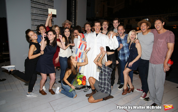 Alex Michael Stoll with Benjamin Parker, Helene Yorke, Jennifer Damiano, Alice Ripley and the cast