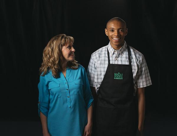 Julie Fitzgerald Ryan as Christine and Justice Jamal Jones as Gabriel Photo