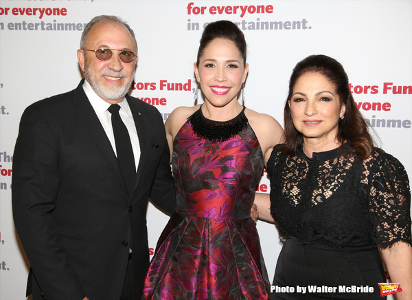 Emilio Estefan, Andrea Burns and Gloria Estefan