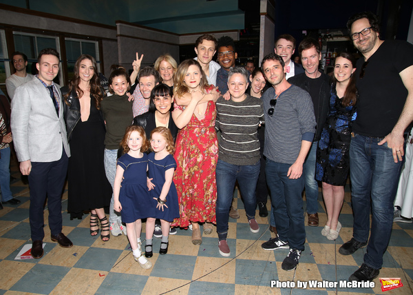 Sara Bareilles with the cast making their Broadway debuts
