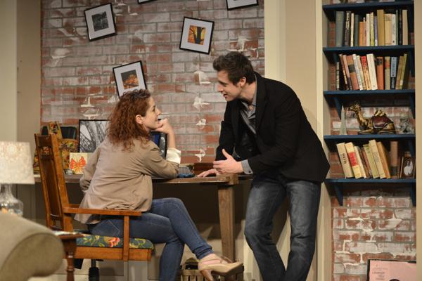 Olivia (Megan Hayes) shares good news with Ethan (Michael Shenefelt)