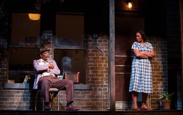 David Alan Anderson as Troy Maxson and Kim Staunton as Rose