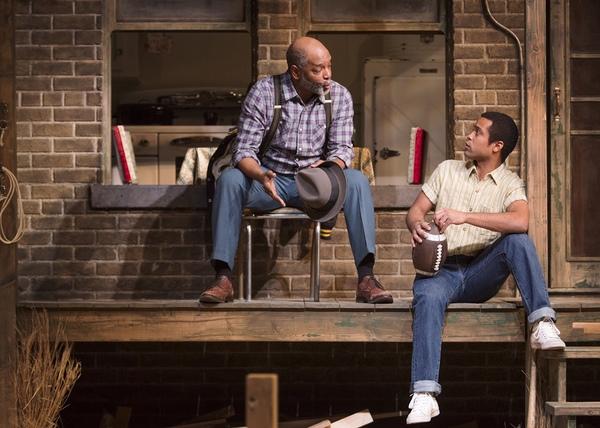 David Alan Anderson as Troy Maxson and Edgar Sanchez as Cory