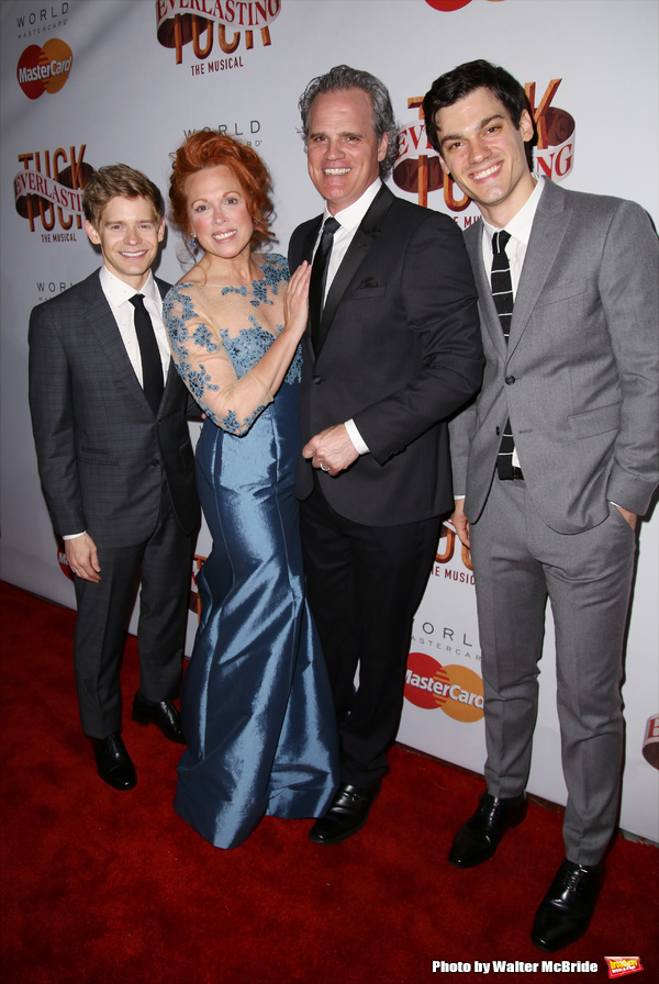 Andrew Keenan-Bolger, Carolee Carmello, Michael Park and Robert Lenzi
