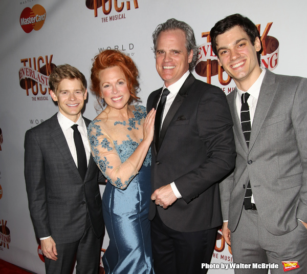 Andrew Keenan-Bolger, Carolee Carmello, Michael Park, and Robert Lenzi