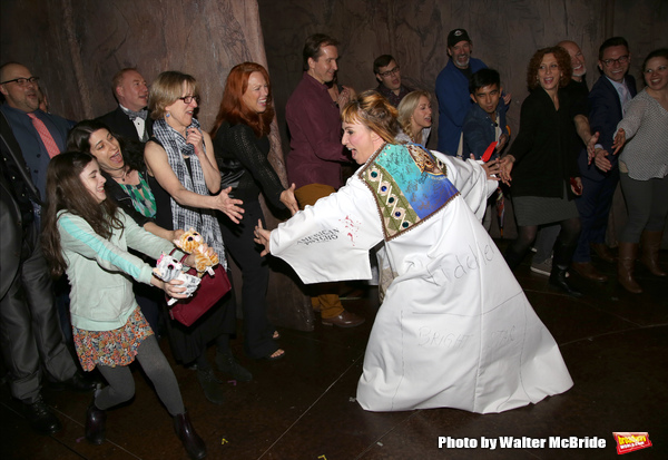 Lisa Gajda and Carolee Carmello with cast