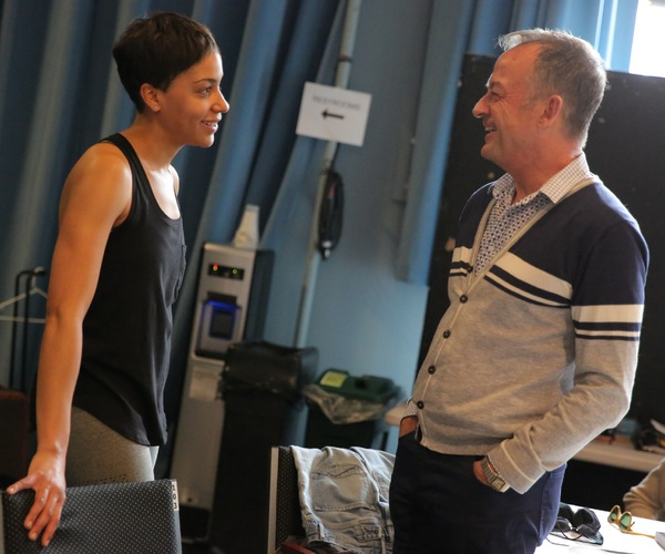 Cush Jumbo and set and costume designer Mark Thompson Photo