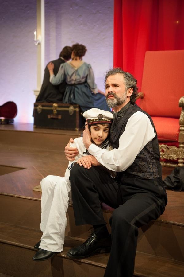 Bedros Kevorkian as Mamillius, Tony Estrella as King Leontes