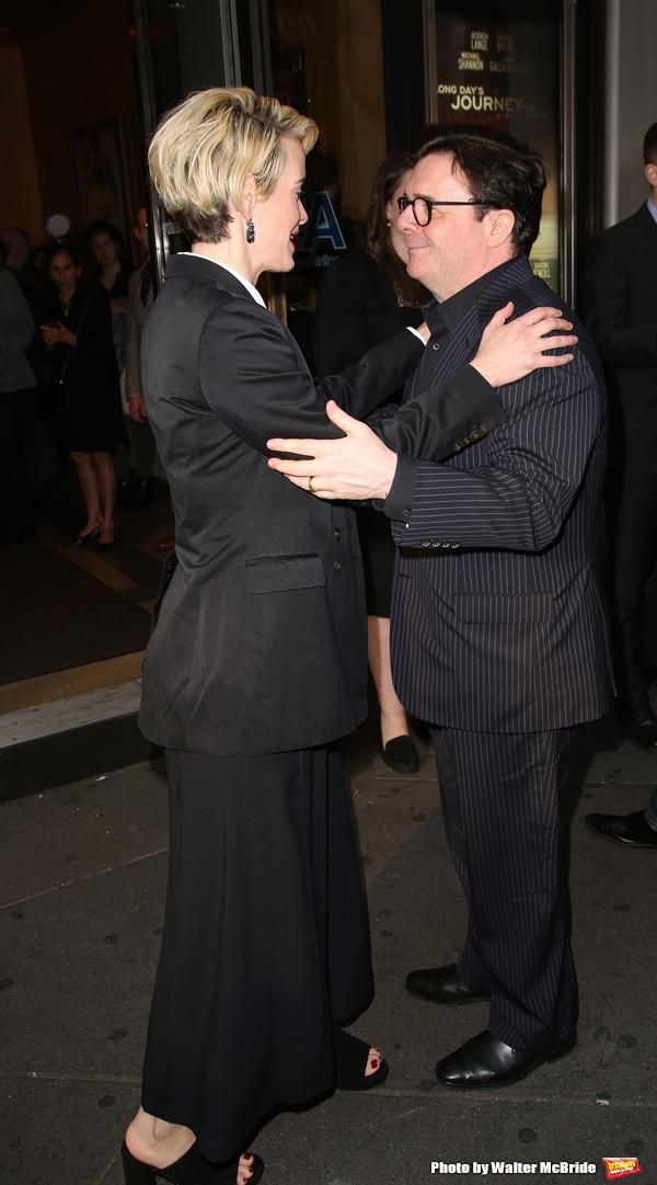 Sarah Paulson and Nathan Lane