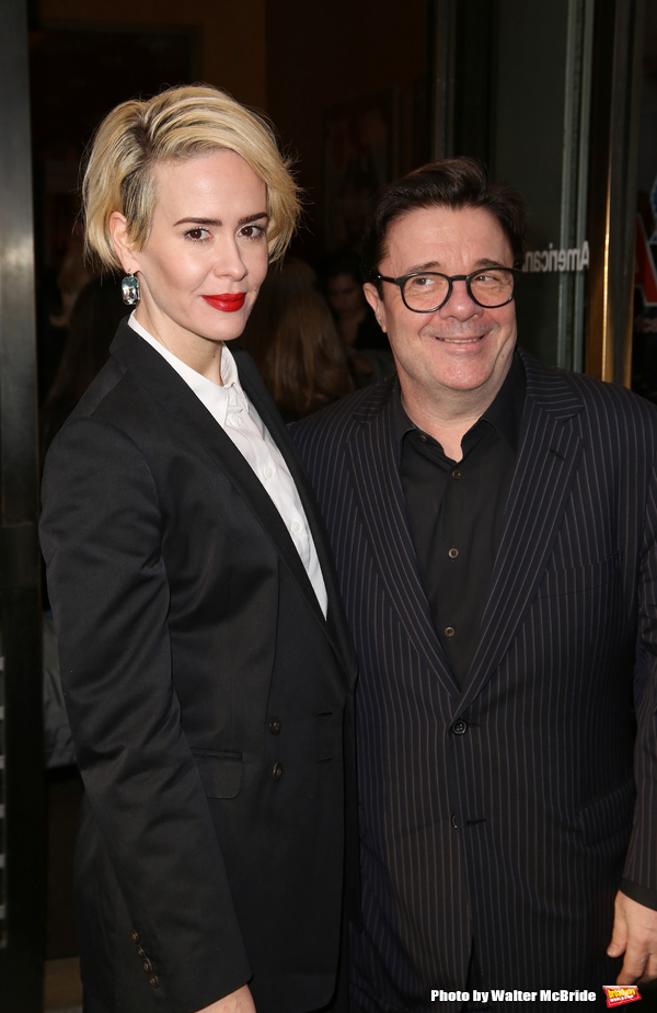 Sarah Paulson and Nathan Lane