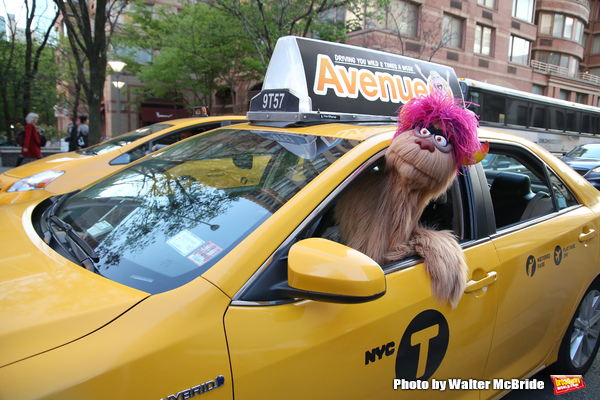 Photo Coverage: Trekkie Monster Debuts the New AVENUE Q Taxi!