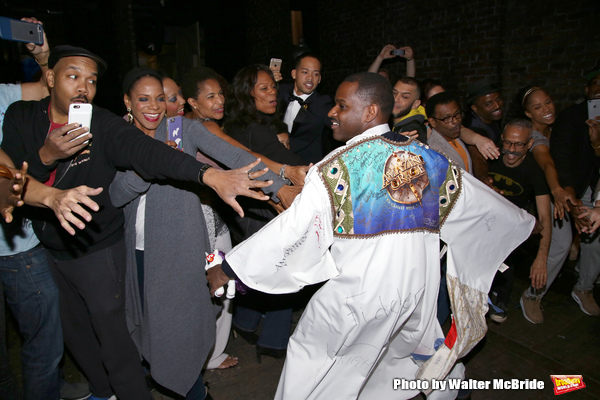 Audra McDonald and Arbender Robinson with cast