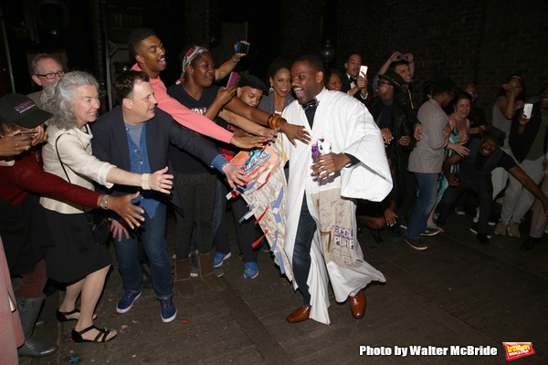 Brooks Ashmanskas, Amber Iman, Audra McDonald, Billy Porter and Arbender Robinson with cast
